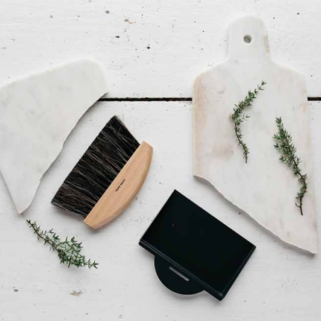 Dustpan & Hand Brush Black