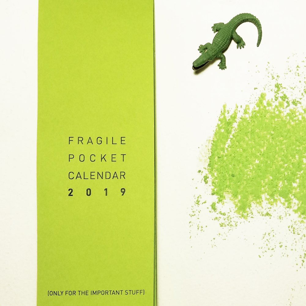 Fragile Pocket Calendar 2019