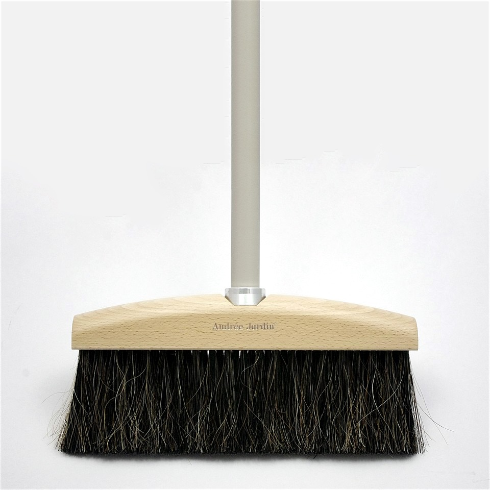 Wooden Broom Grey