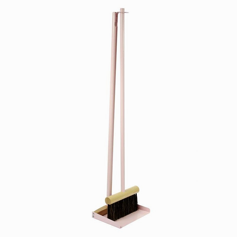 Standing Broom & Dustpan Set Pink