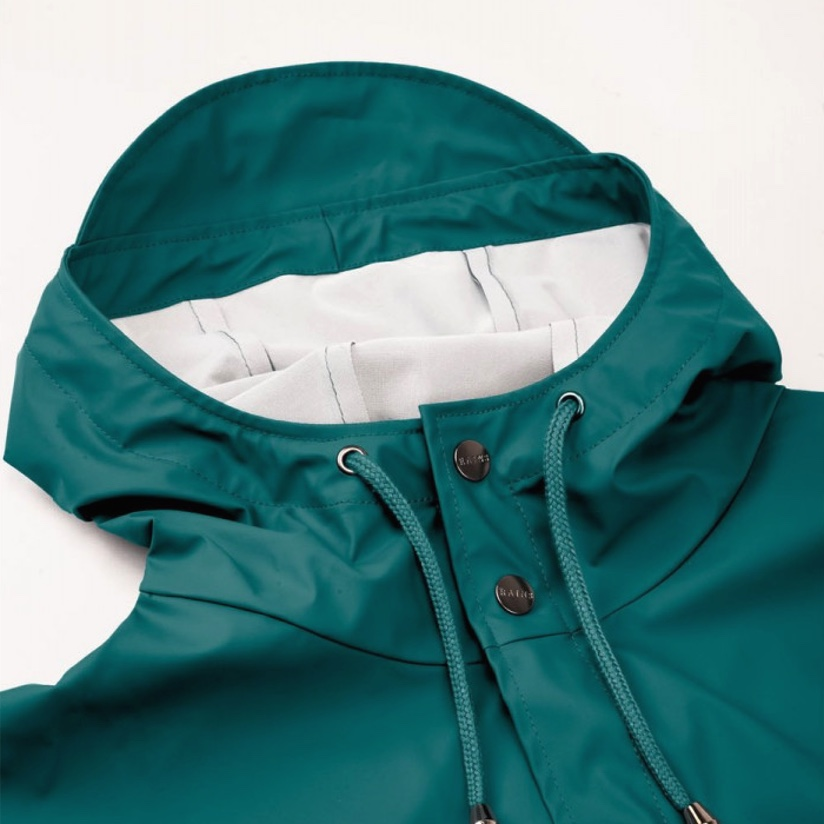 Rains Long Jacket Dark Teal