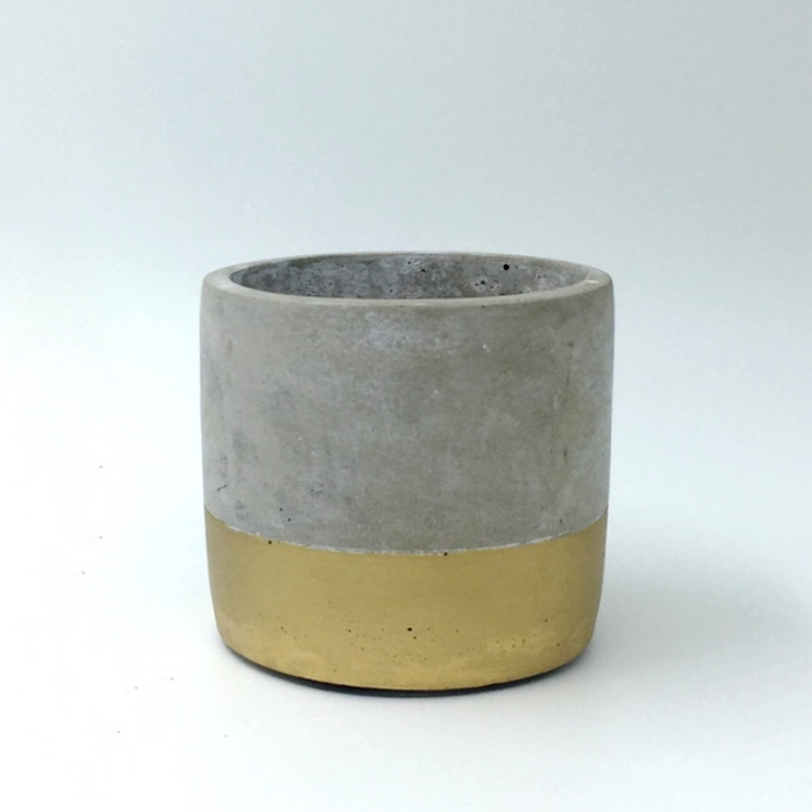 Gold Dip Cement Pot