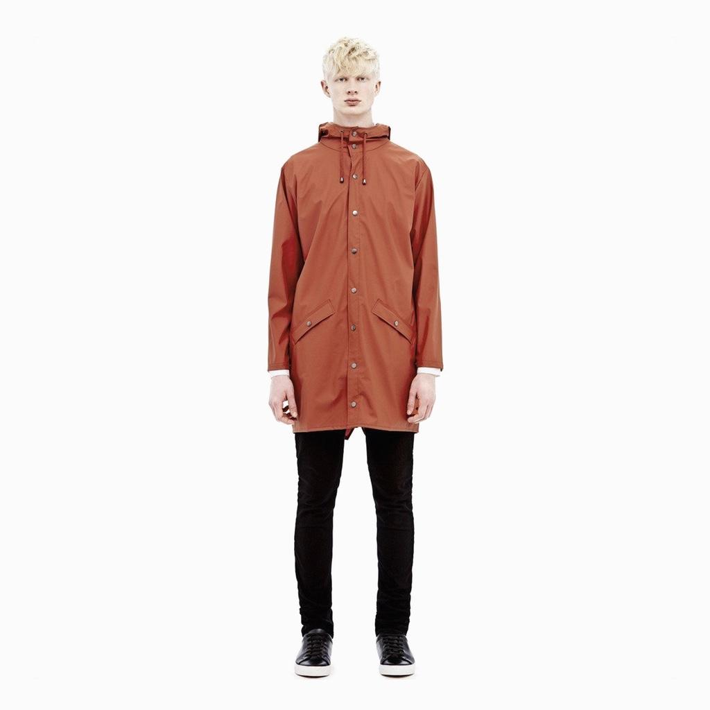 Rains Long Jacket Rust