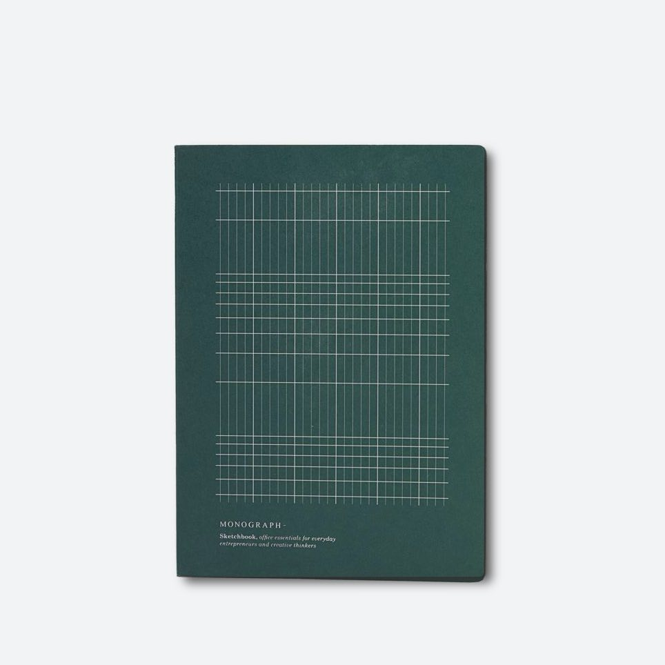 Notebook Geometric Dark Green Large