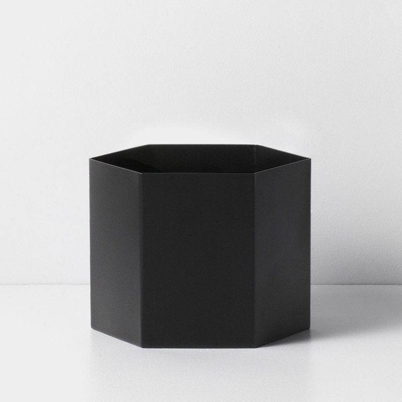Hexagon Pot Dusty Black XL
