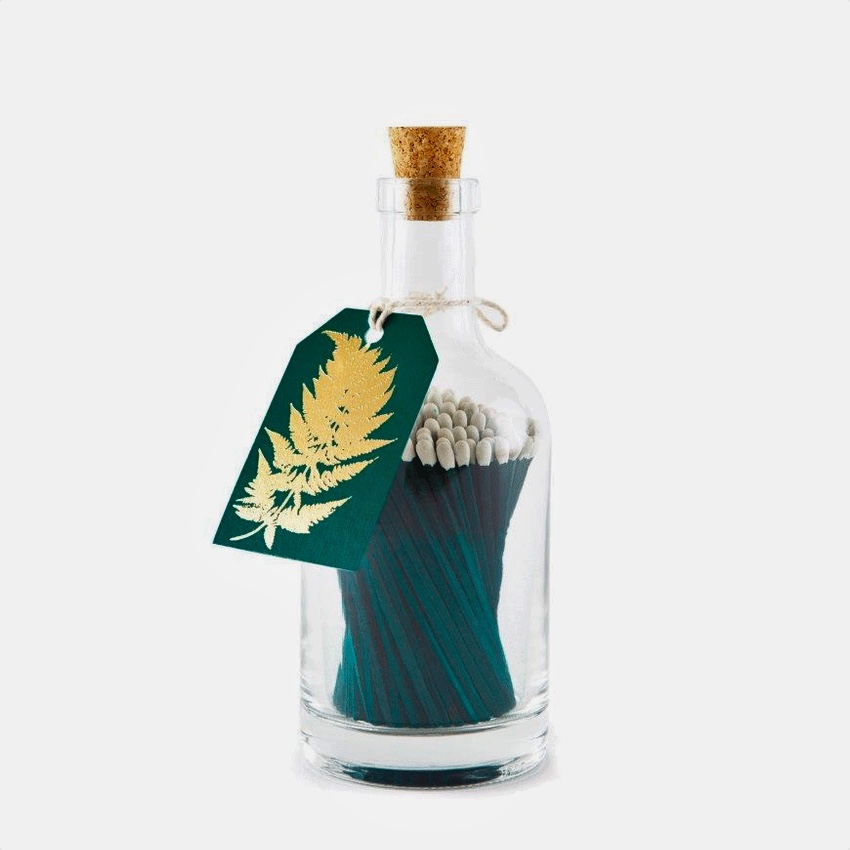 Glass Bottle Green Luxury Matches