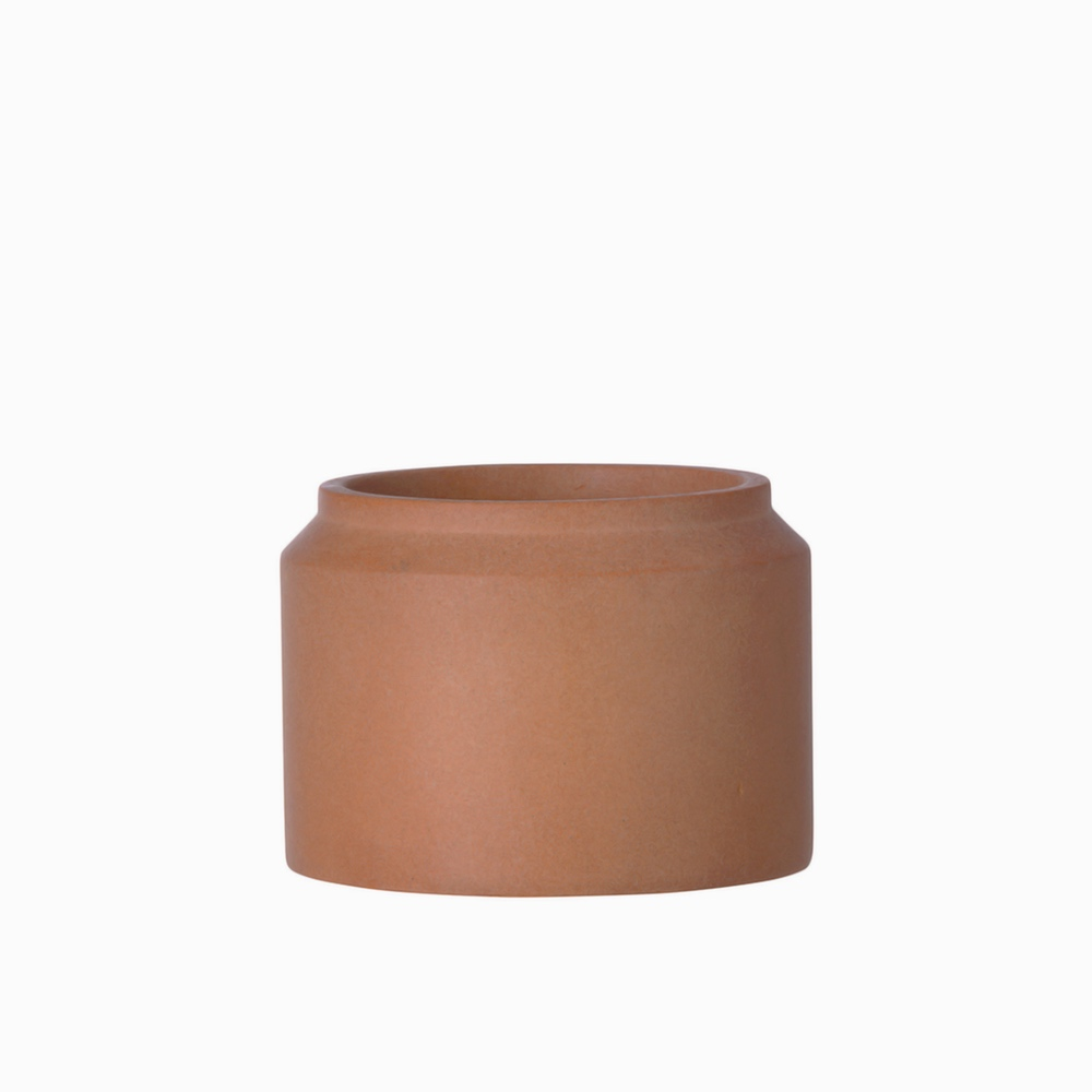 Ochre Concrete Pot