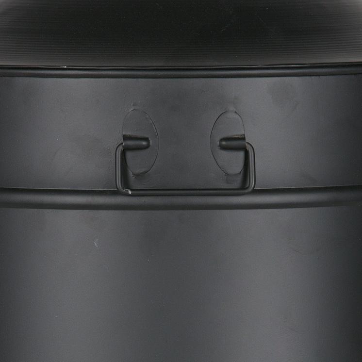 Three feet metal basket black