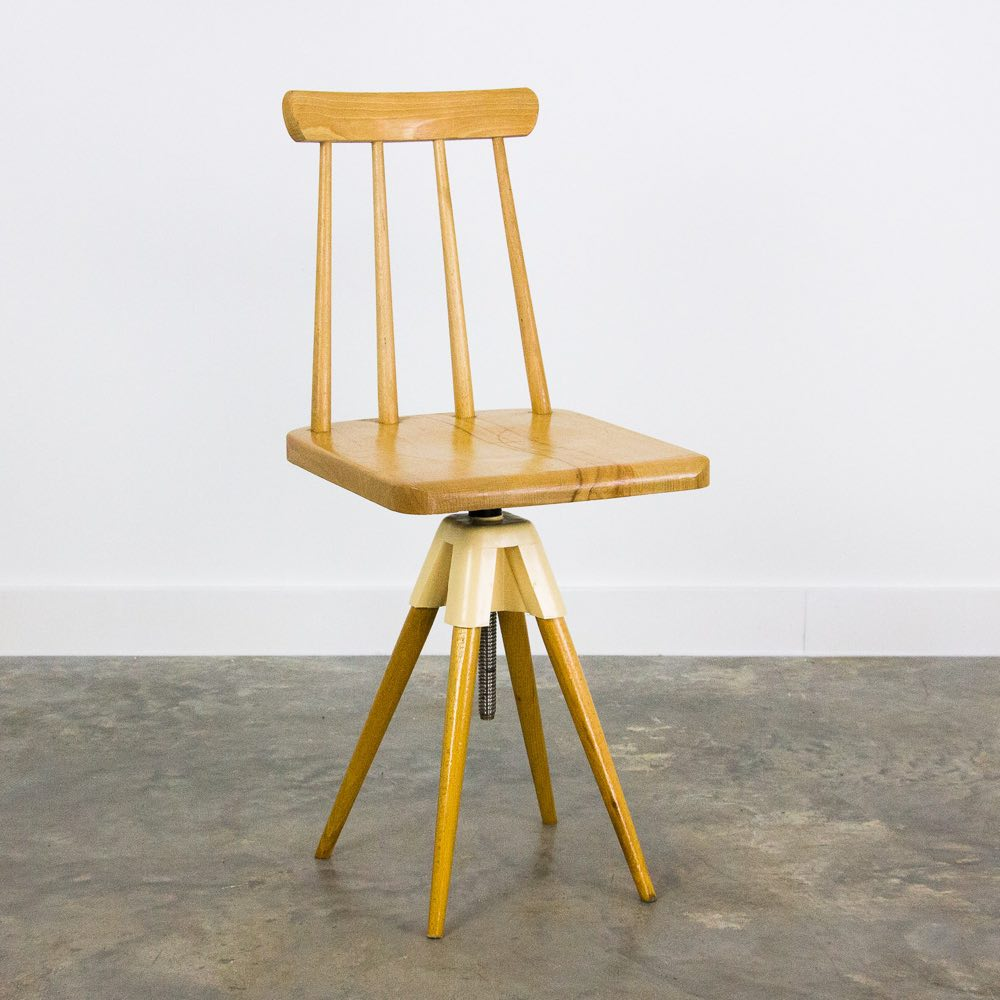 Vintage adjustable wooden chair