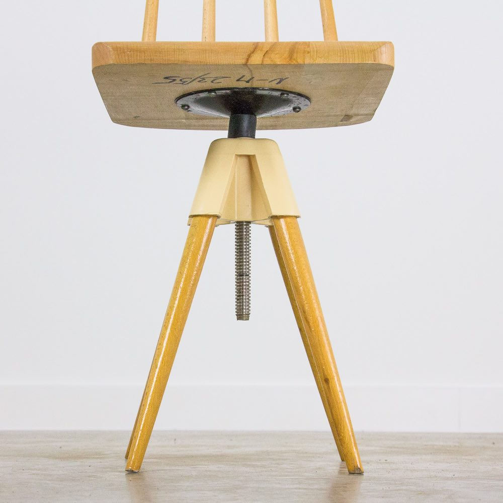Vintage adjustable wooden chair
