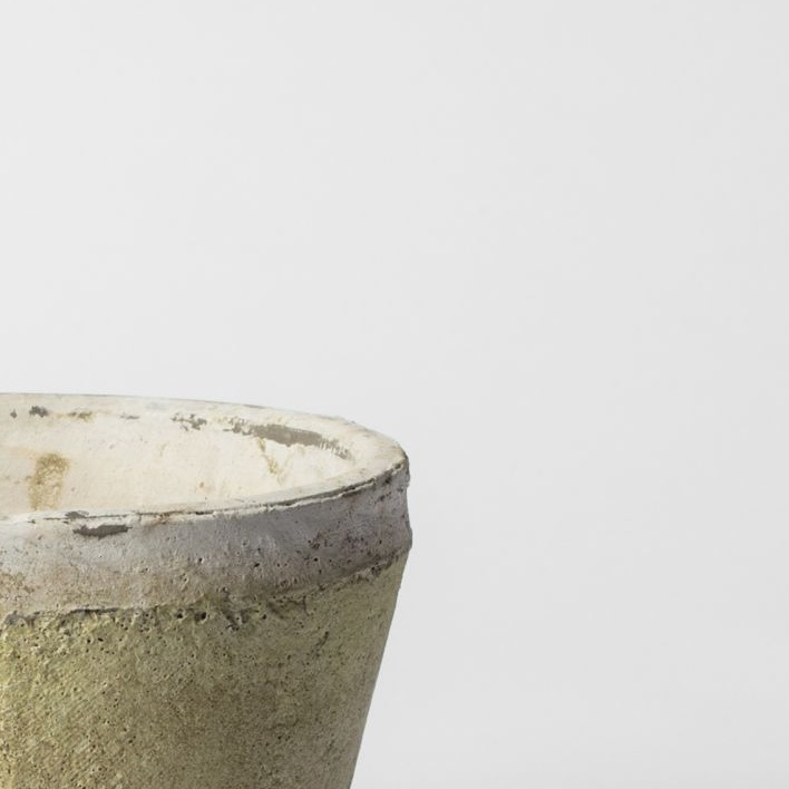 Aged terracotta pot large