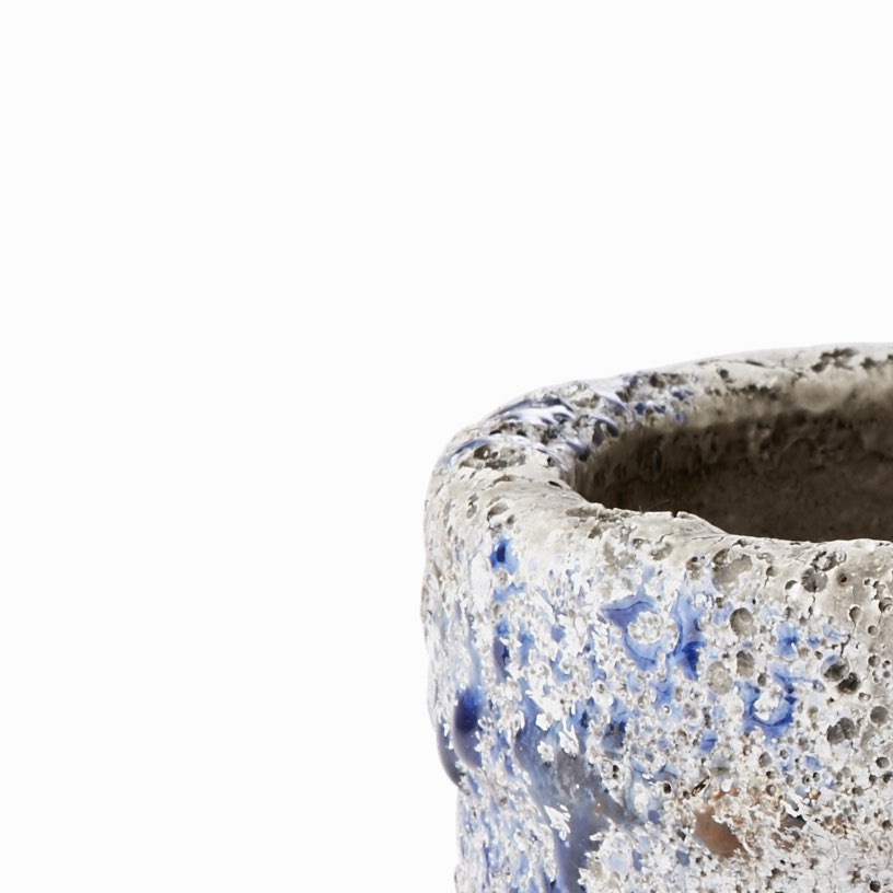 Distressed stoneware pot