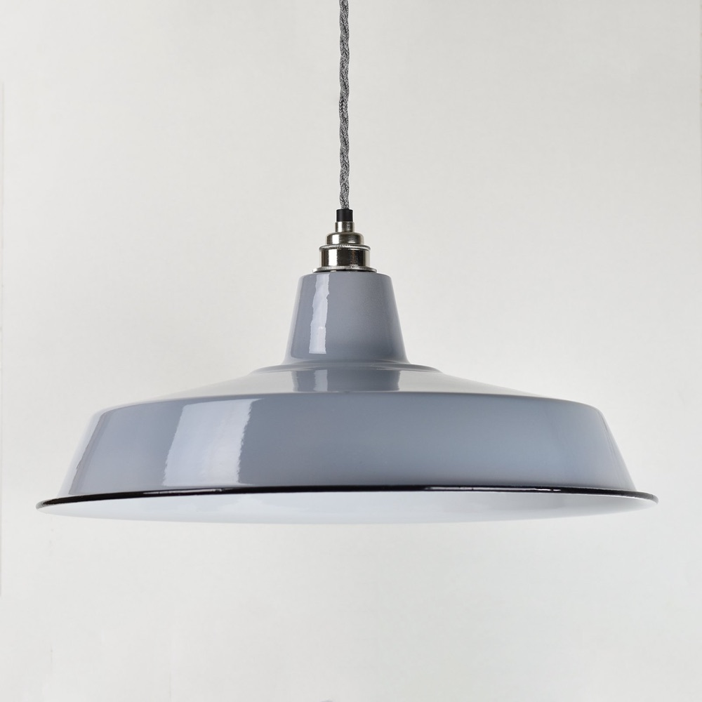 Large Enamel Shade Grey
