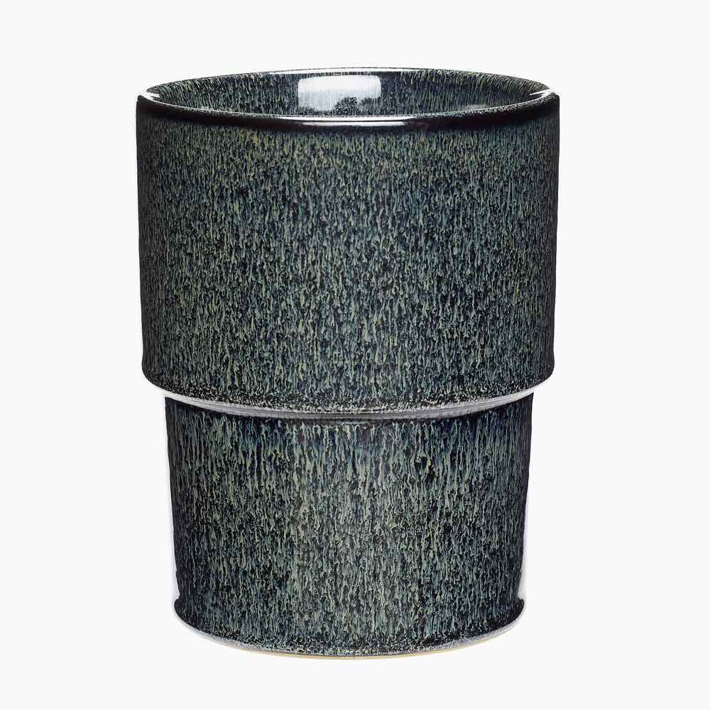 Glazed Pot Blue Green
