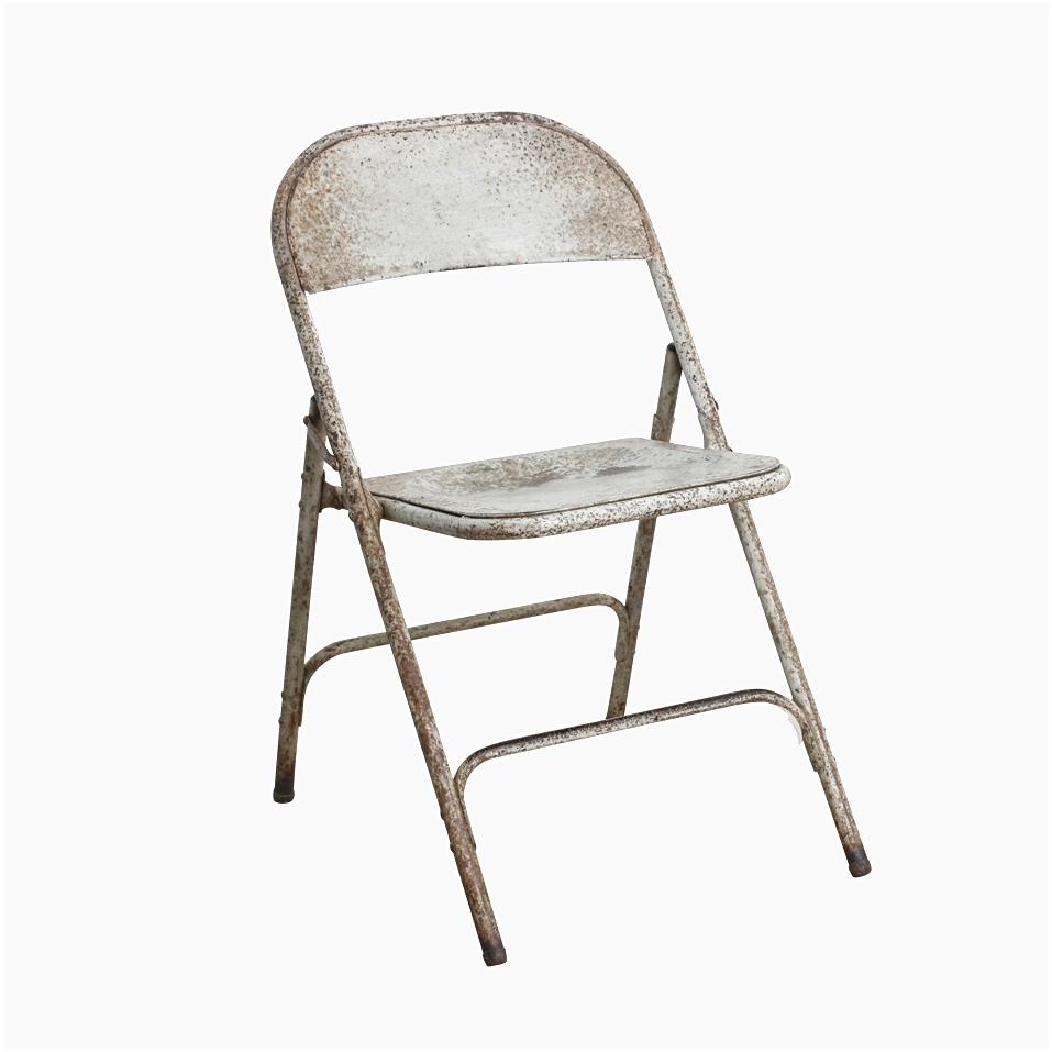Folding White Cinema Chair