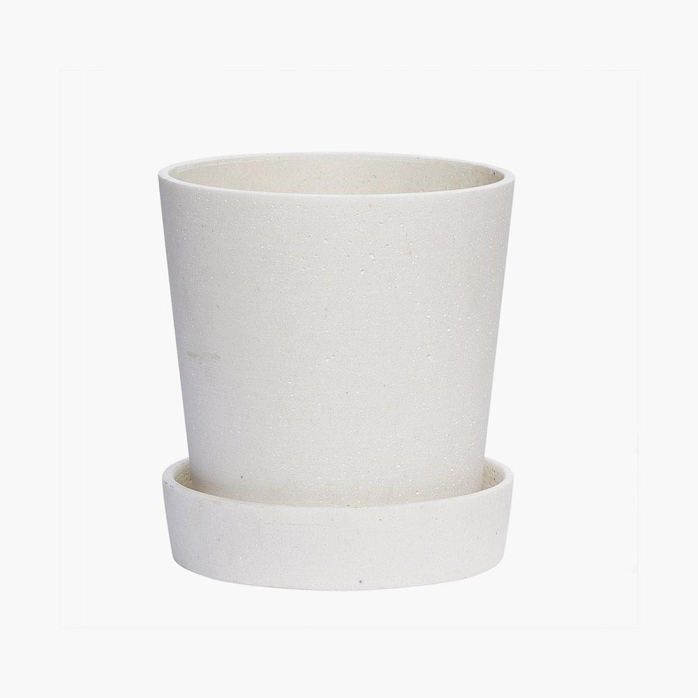 White Polystone Pot