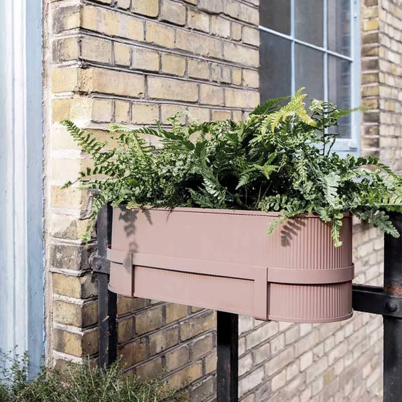 Bau Balcony Box Dusty Rose