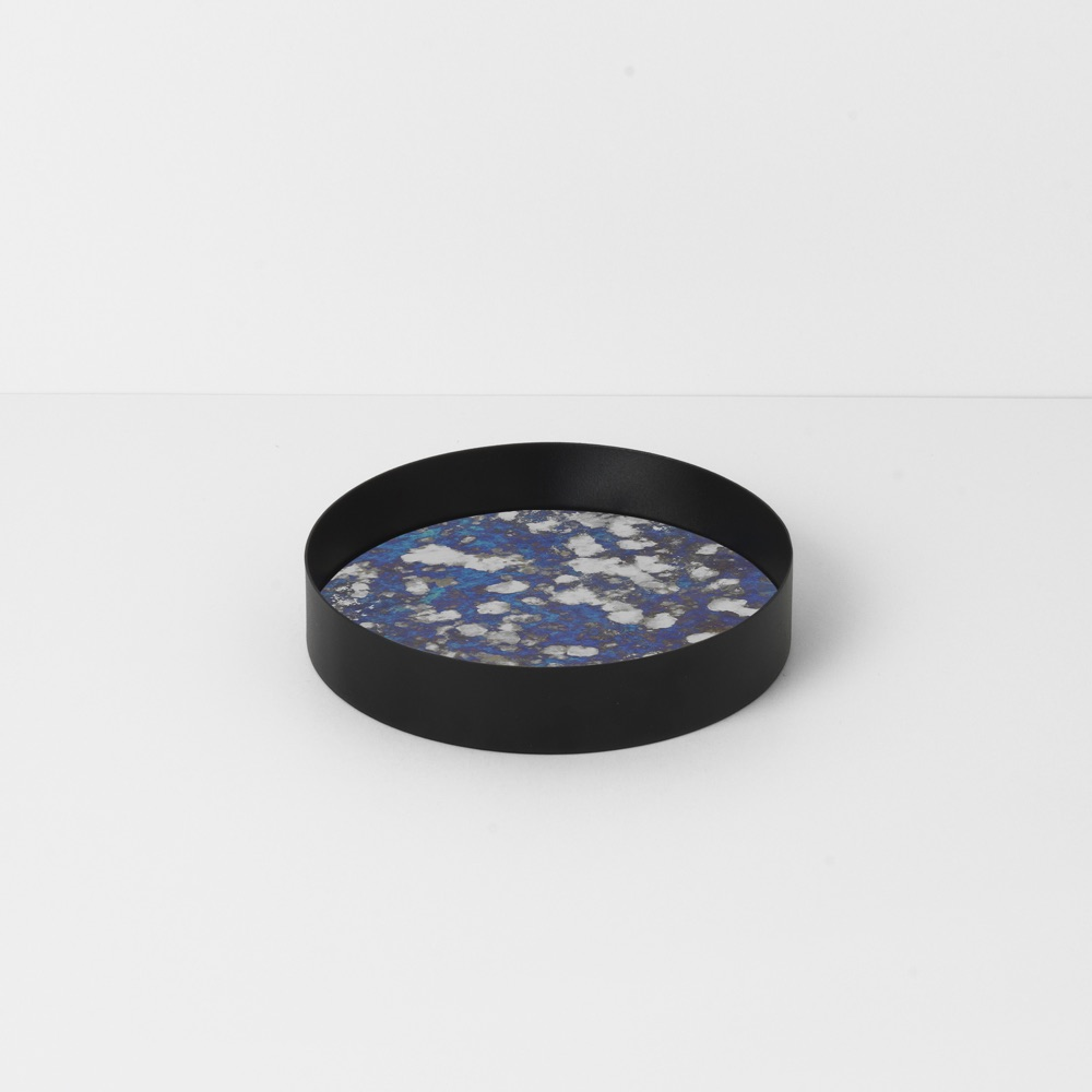 Coupled Tray Round Blue Small