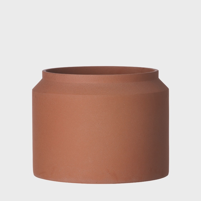 XL Ochre Concrete Pot
