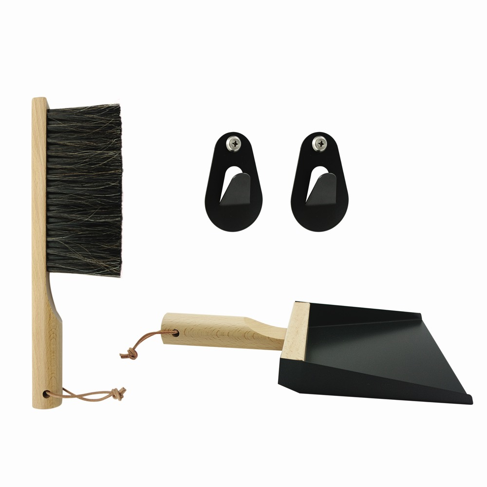 Broom & Dustpan Set Black