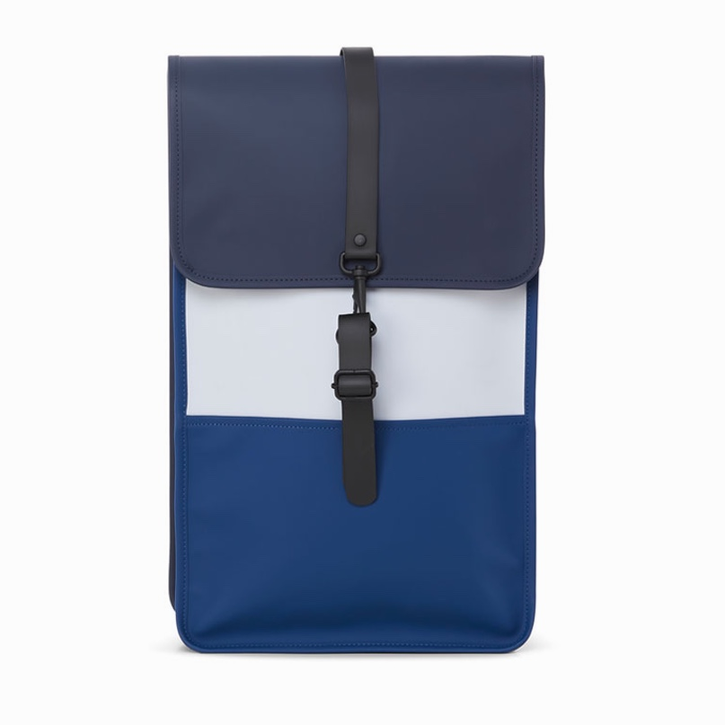 Rains Backpack Color Block Blue-Ice