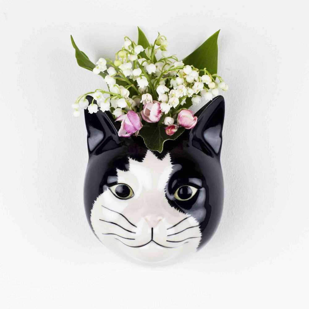 Cat Barney Wall Vase
