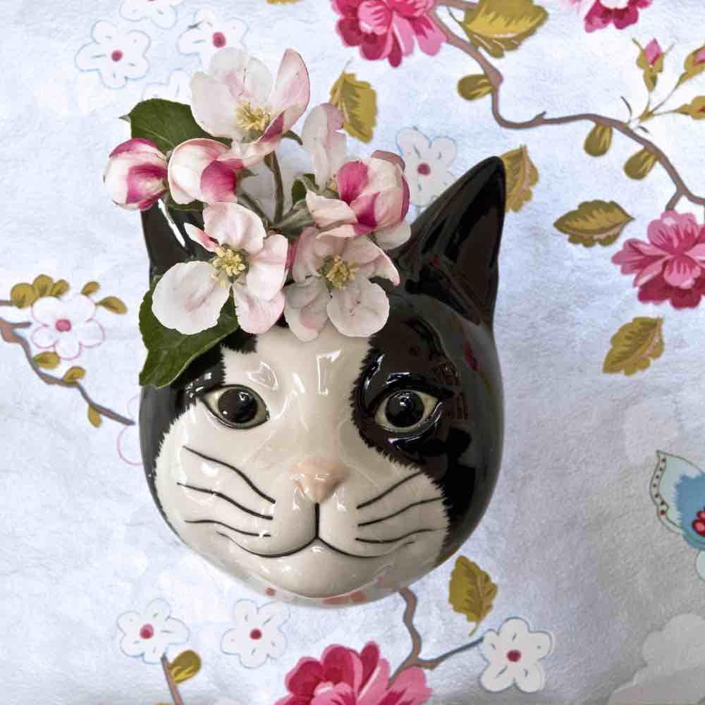 Cat Wall Vase