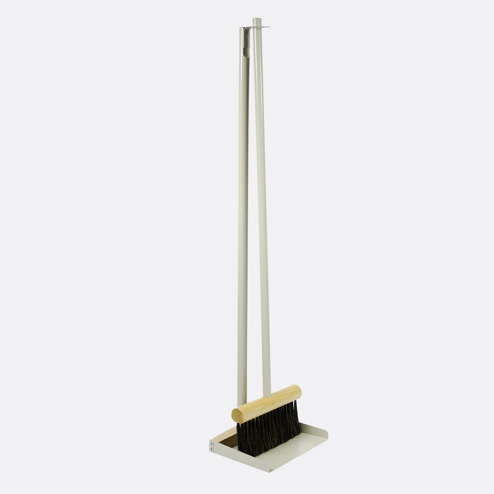 Standing Broom & Dustpan Set Grey