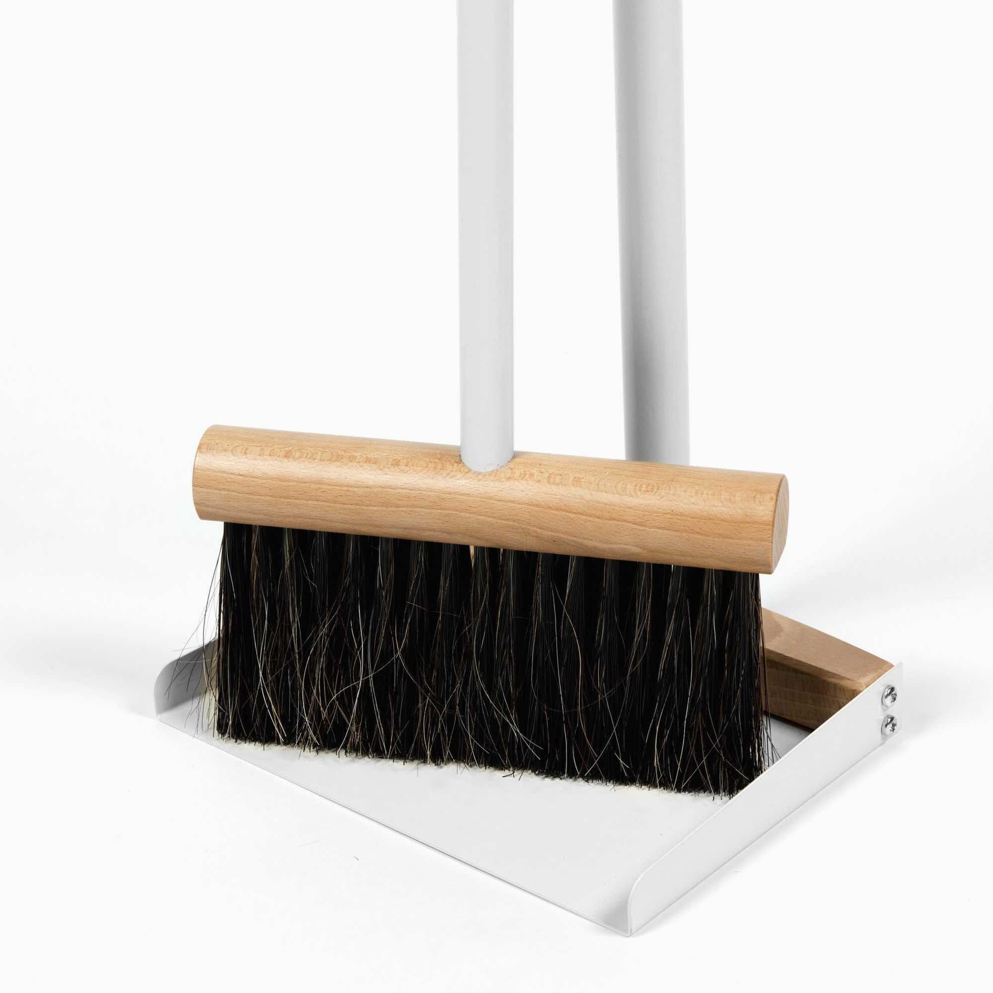 Standing Broom & Dustpan Set Grey