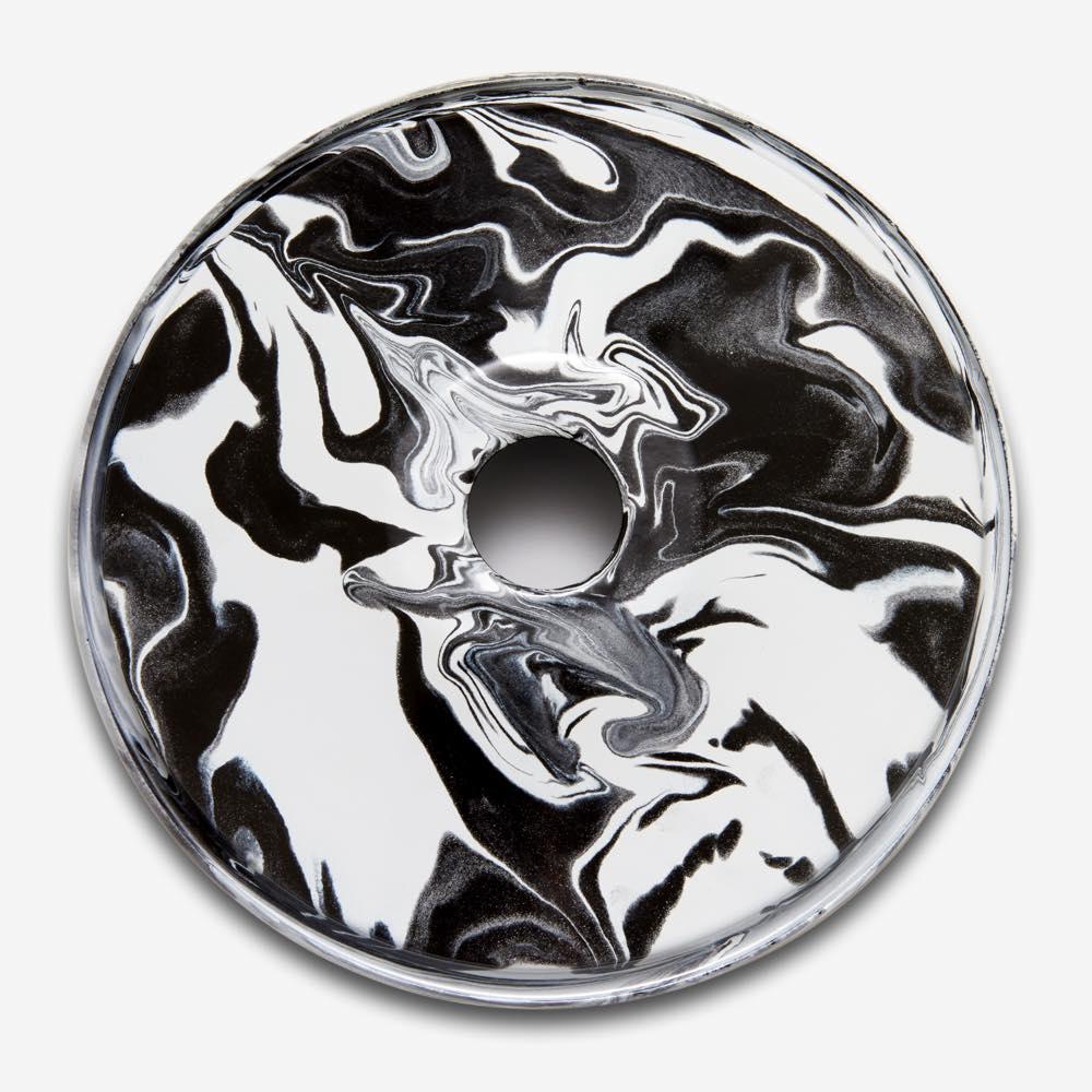 Marbled Flat Enamel Shade Black