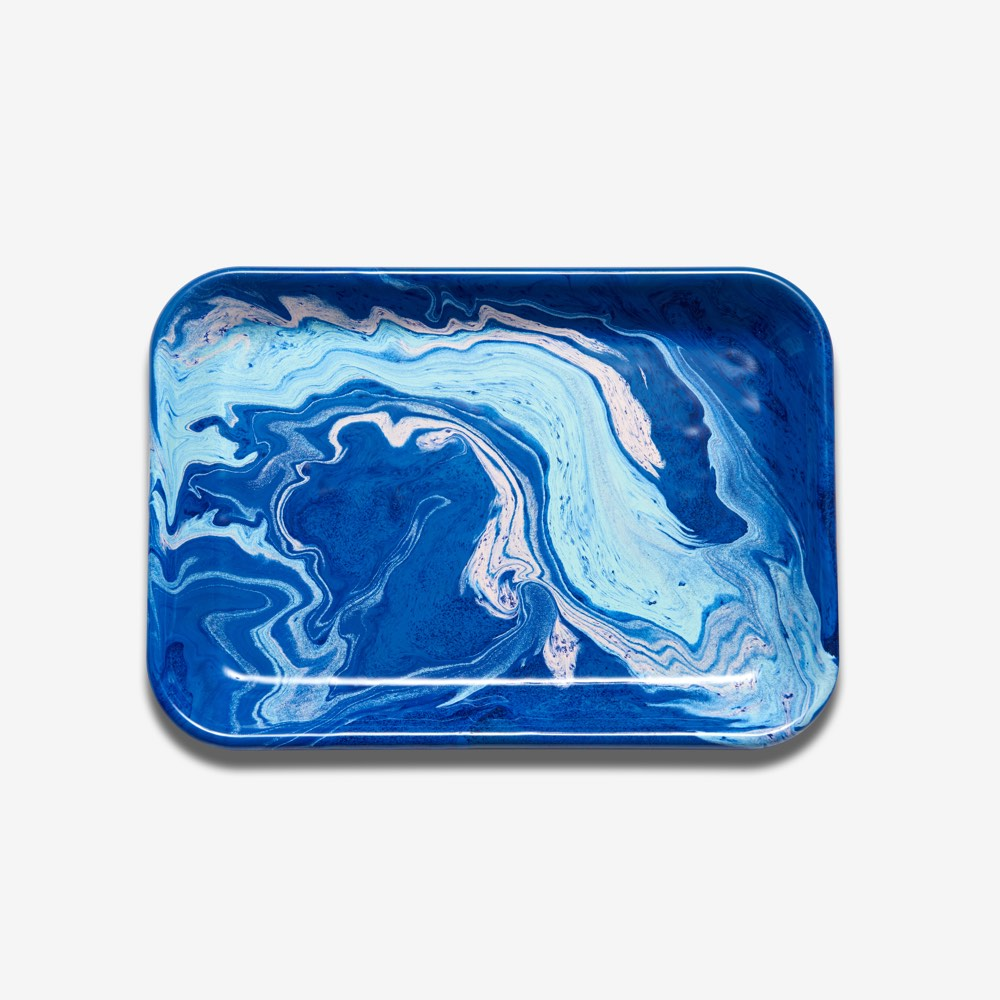 Enamel Rectangular Tray Cobalt