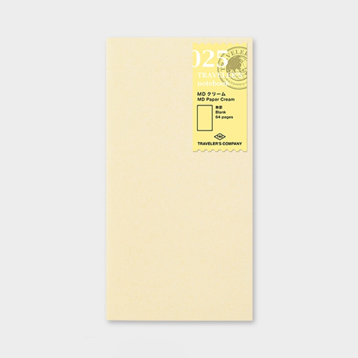 Traveler's Notebook Refill MD Paper Cream