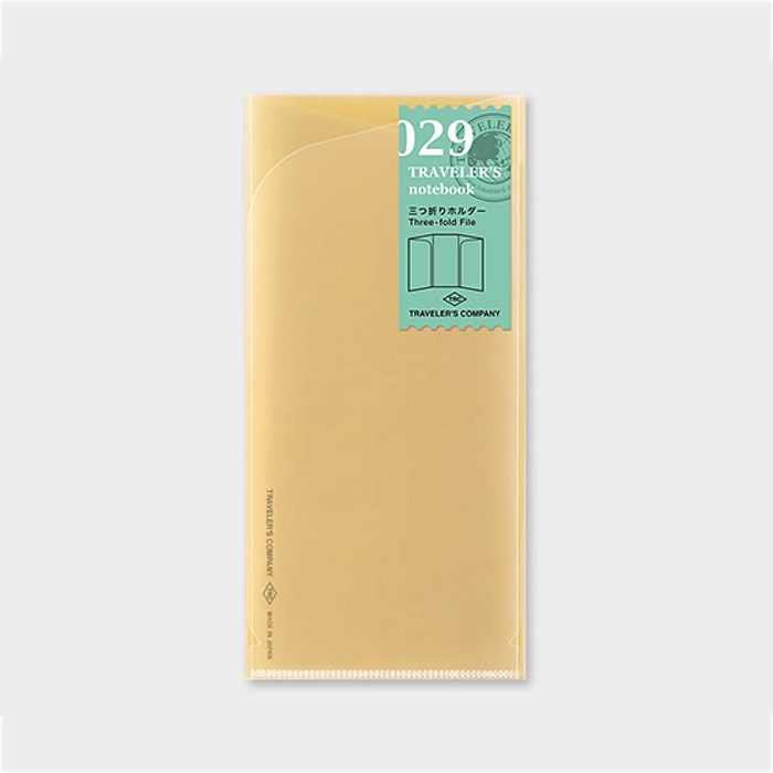 Traveler's Notebook Three-fold File
