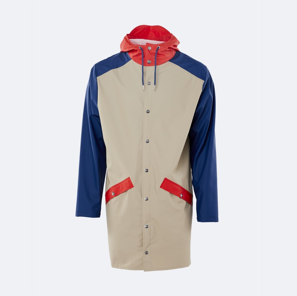 Rains Long Jacket Color Block