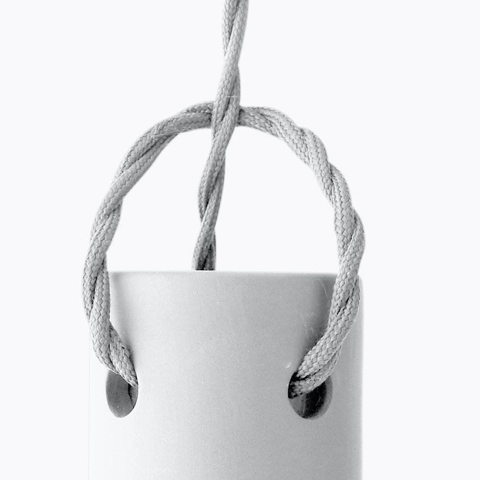 Tied Pendant White