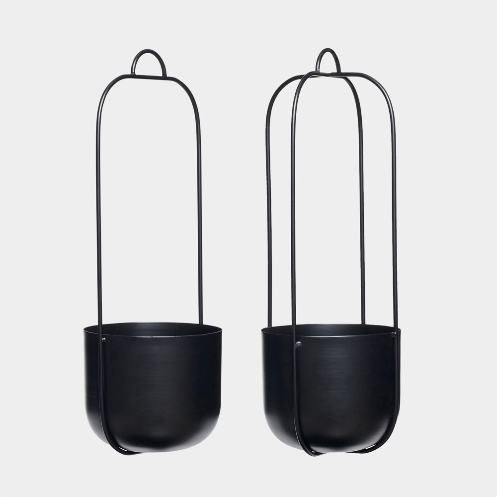 Hanging pot metal black