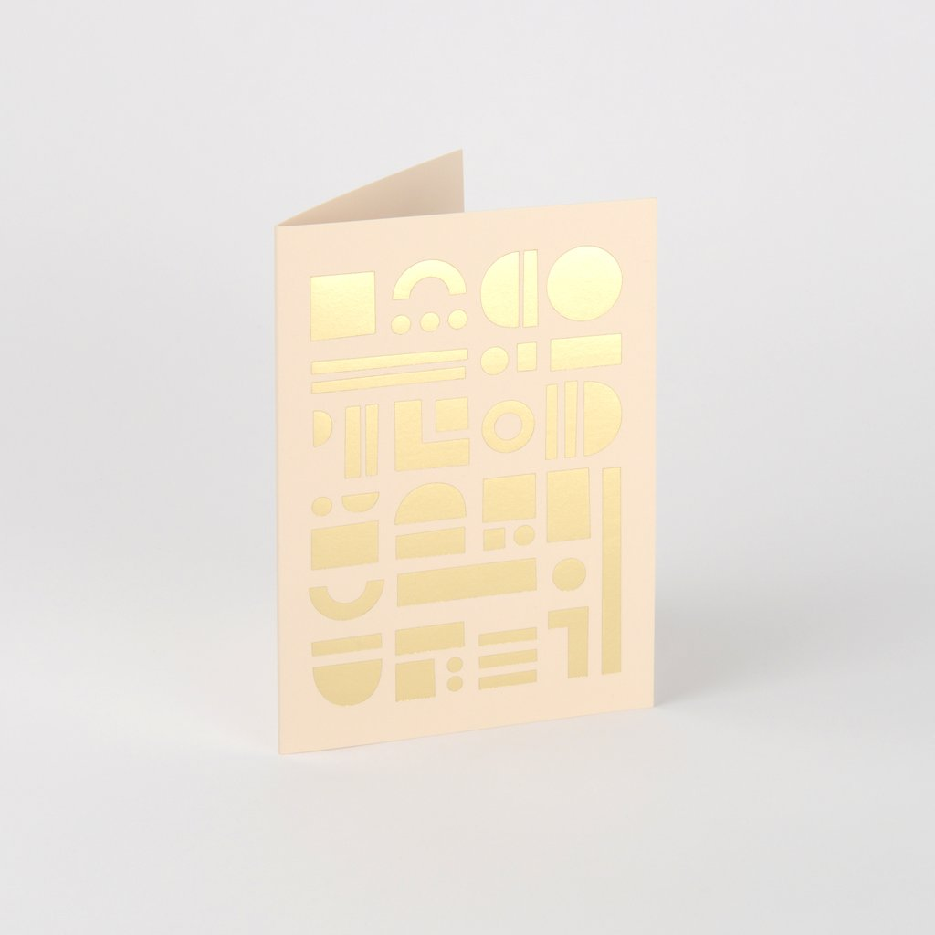 Artefact Card Brass & Nude
