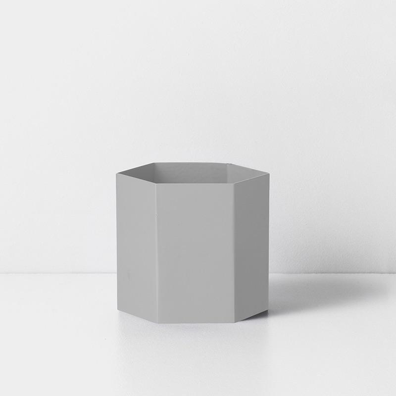Hexagon Pot Grey
