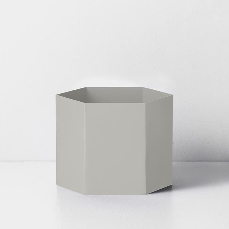 Hexagon Pot  Grey XL