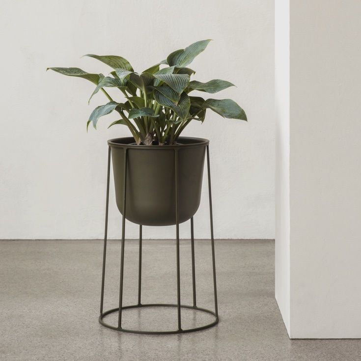 Wire Pot Olive