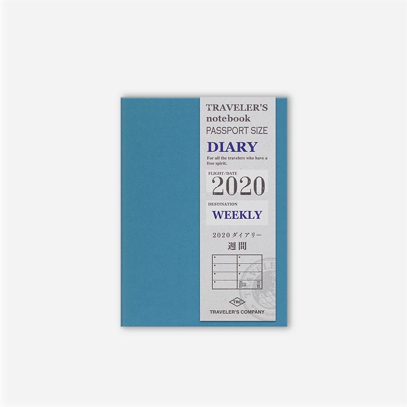 Traveler's Notebook Passport 2020 Diary Weekly