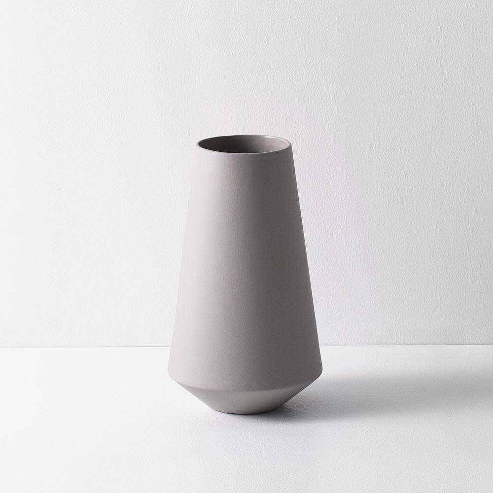Sculpt Vase Well Grey